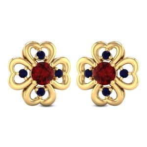 Coxcomb Floral Stud Earrings