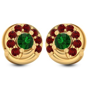 Poinsettia Stud Earrings