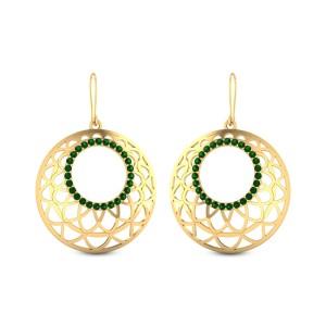 Emerald Trellis Hanging Earrings
