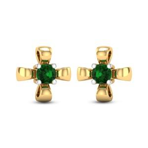 Sohini Emerald Stud Earrings