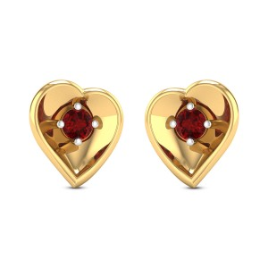 Sahana Heart Stud Earrings