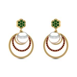 Sophronitis Hanging Earrings