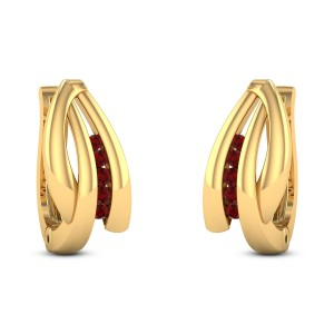 Scilla Ruby Stud Earrings