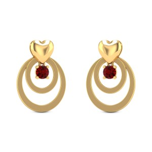 Aeson Ruby Drop Stud Earrings