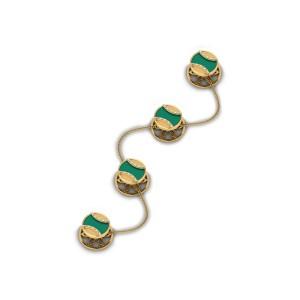 Gaja Onyx and Gold Kurta Buttons