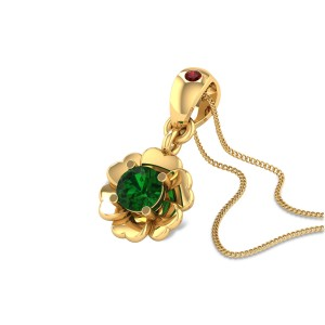 Castor Emerald Floral Pendant