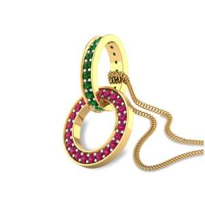 Rings Interlinked Pendant