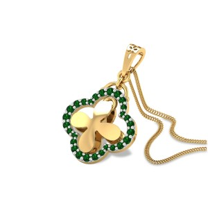 Blum Emerald Floral Pendant