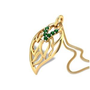 Emerald Leaves Pendant