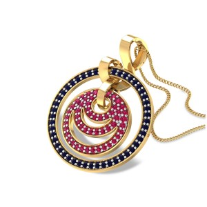 Aadia Ruby and Sapphire Pendant