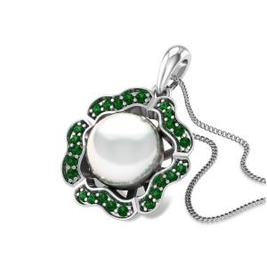 Aarksh Pearl Floral Pendant