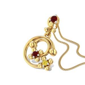 Abhiruchi Ruby and Sapphire Pendant