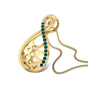 Emerald Infinity Pendant