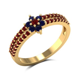 Melaina Ruby Band Ring
