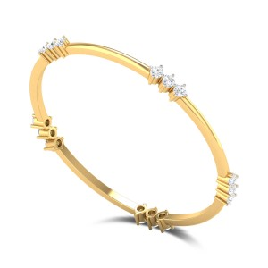 Stephanotis Diamond Bangle