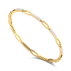 Rhododendron Diamond Bangle