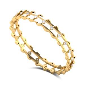 Wire Creeper Diamond Bangle