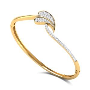 Akshat Leafy Openable Diamond Bangle