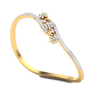 Cayson Wavy Openable Diamond Bangle