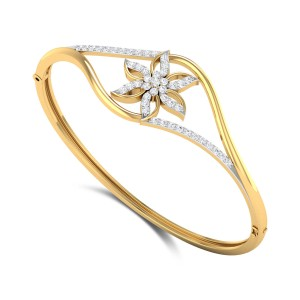 Braylin Floral Openable Diamond Bangle