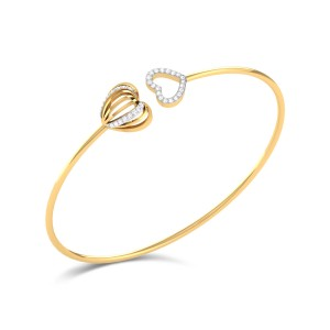 Maiya Diamond Crossover Heart Bangle