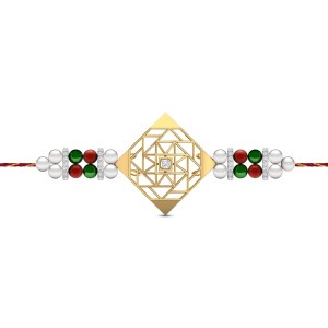 Kith & Kin Diamond Rakhi Set