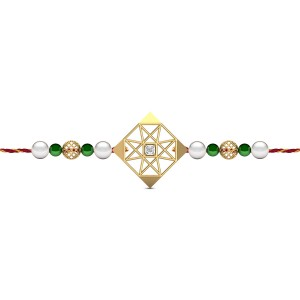 Brotherly Love Diamond Rakhi Set
