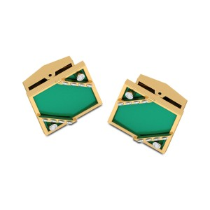Shaurya Square Diamond Cufflinks