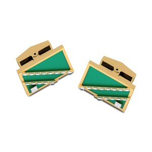 Ishaan Square Diamond Cufflinks