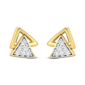 Alice Diamond Studded Gold Earrings DJER5170
