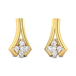 Wild Carnation Diamond Earrings
