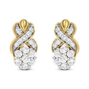 Warped Diamond Earrings