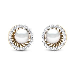 Diamond 18Kt Yellow Gold Earring