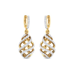 Hanging Cage Diamond Earrings