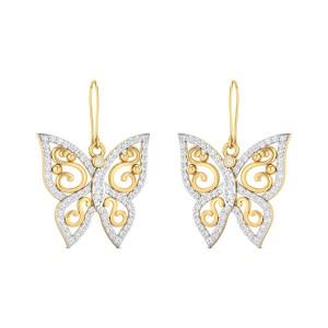 Buy Tess Diamond Earrings in 6.33 Grams Gold Online