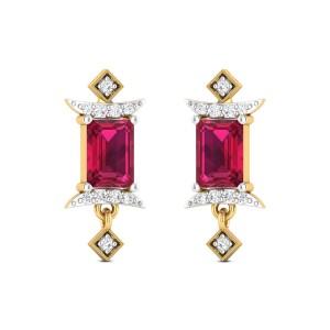 Royal Ruby Stud Earrings