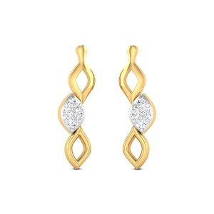 Skew Lines Diamond Earrings