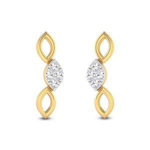 Mobius Strip Diamond Earrings