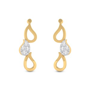 Right Latitude Diamond Earrings