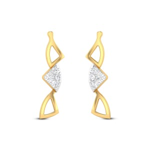Congruent Triangles Diamond Earrings