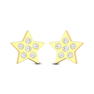 Cute Star Diamond Earrings
