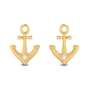 Anchor Diamond Earrings