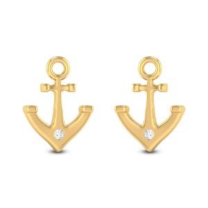 Anchor Diamond Earrings