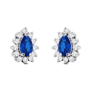 Royal Blue Diamond Earrings