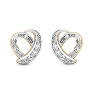Amata Heart Diamond Stud Earrings