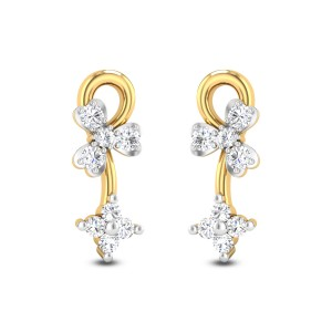 Dual Orchid Diamond Earrings