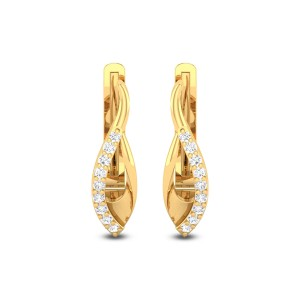 Inverted Bud Diamond Earrings