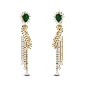 Elegant Lady Diamond Earrings