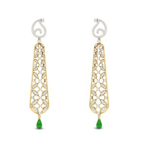 Floral Lace Diamond Earrings