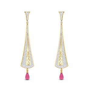 Daphne Ruby Drop Diamond Earrings
